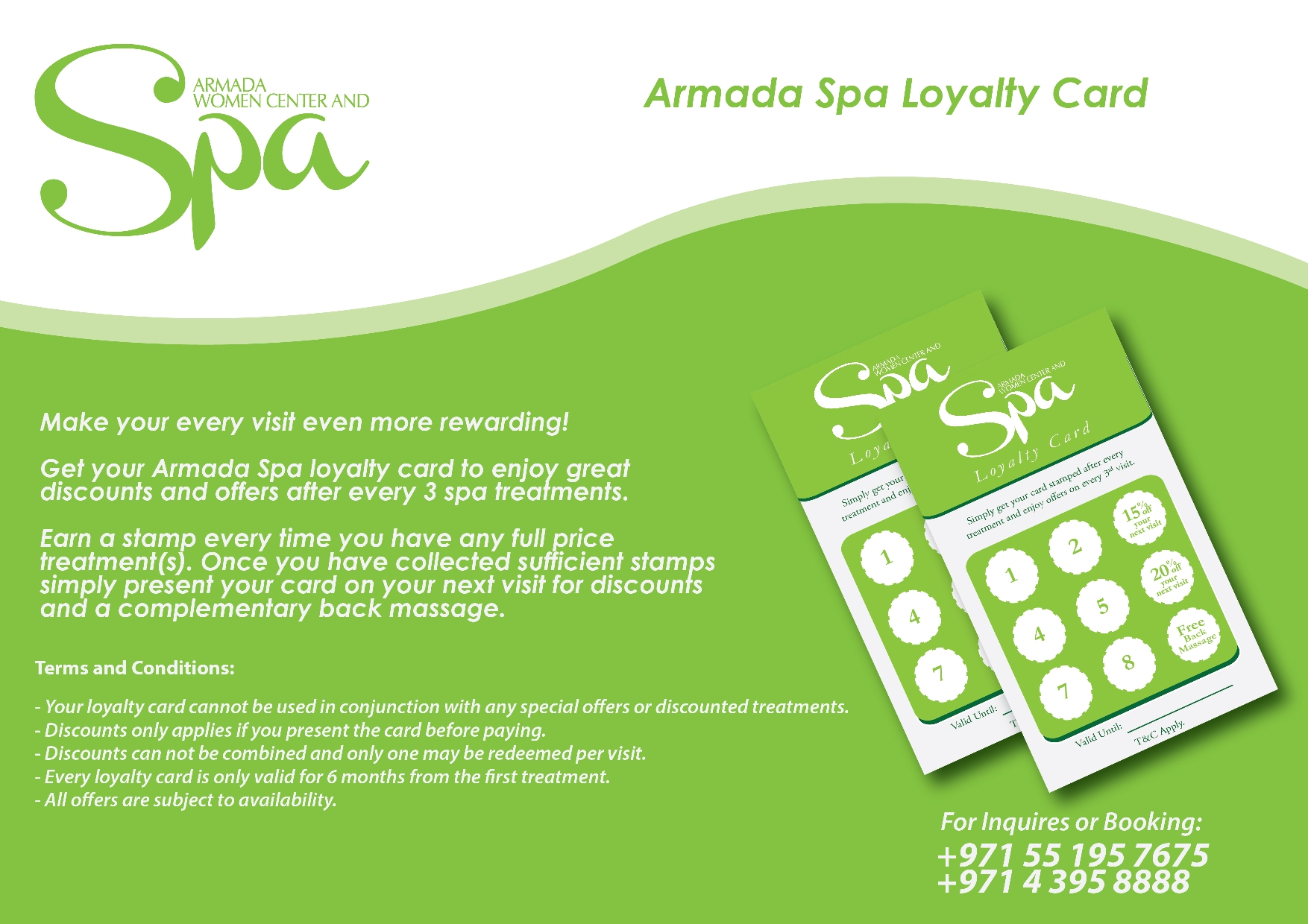Armada Spa Loyalty Card